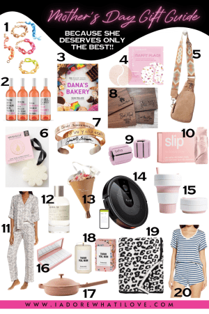 Mother's Day is a time to spoil her rotten!! Sharing my gift guide with 20 awesome ideas for every time of mom!