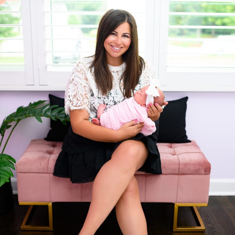 """Baby girl nursery: revealed! Demi's nursery is """"Cool Girl Chic and Sweet"""" and will be able to grow with her through the years. In love!!!"""