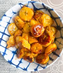 This healthier sweet fried plantain recipe is great as a snack, side dish or dessert and is the easiest, most delicious, filling & satisfying!