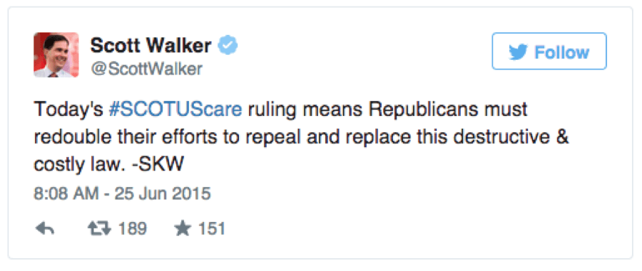 scotus-scotuscare-affordable-health-care-scott-walker-tweet