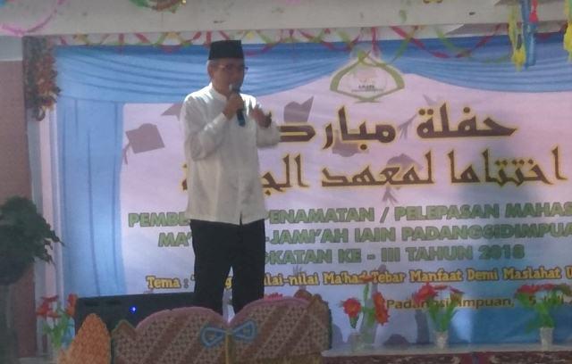 Dengan Program Ma'had Jamiah, IAIN Padangsidimpuan membentuk Kepribadian Cerdas Berintegritas yang Bermanfa'at Bagi Umat