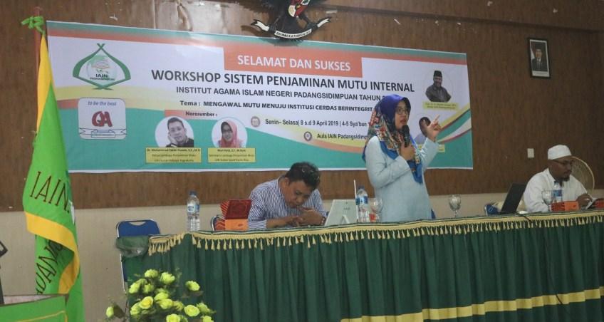 Lembaga Penjaminan Mutu (LPM) IAIN Padangsidimpuan Gelar Workshop SPMI