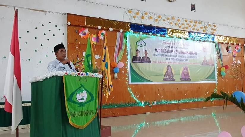 Bangun Jiwa Wirausaha, Himadiksi IAIN Padangsidimpuan Adakan Workshop Pengolahan Limbah