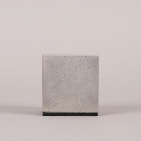Concrete block business card holder