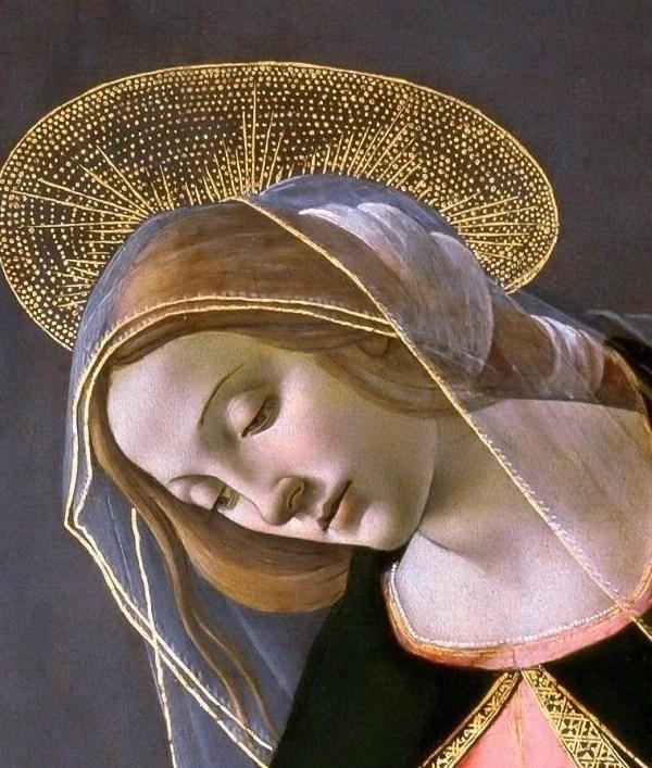 Cestello Annunciation (detail) x Botticelli