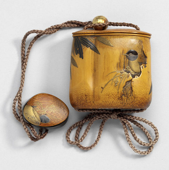 Inrō, ojime and netsuke
