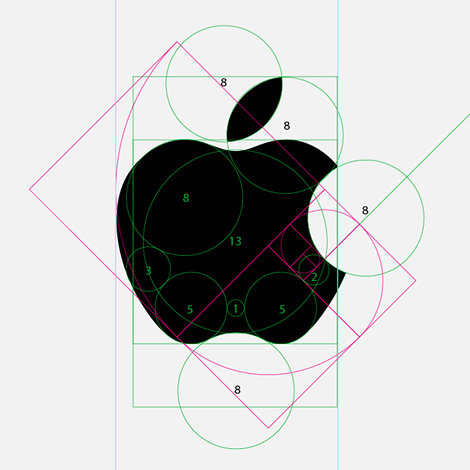 Apple logo deconstructed