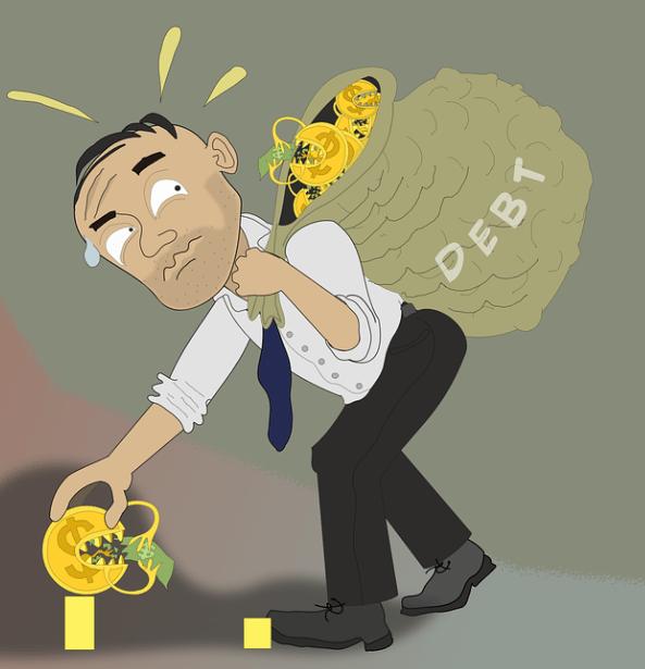 heavy debts