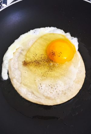 Whole Life Challenge- Eggs on Corn Tortilla