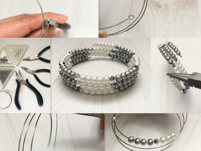 Diy memory wire bracelet do it yourself jewelry tutorial easy diy memory wire bracelet solutioingenieria Images