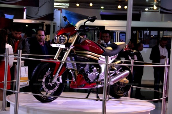 Mahindra 2 wheelers Auto Expo 2012 India 01
