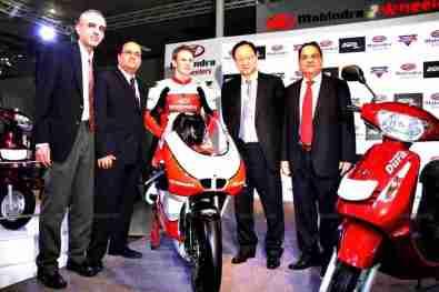 Mahindra 2 wheelers Auto Expo 2012 India 45