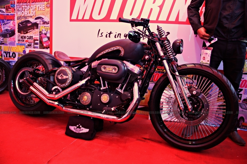 Rajputana Customs Harley 48 Auto Expo 2012 India 01