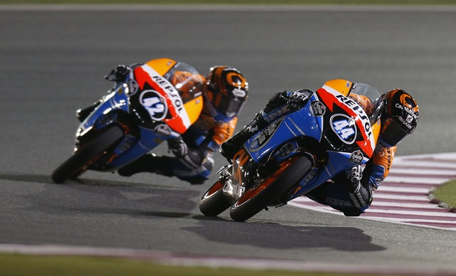 Moto3 2012 Qatar Repsol on top in FP1 FP2