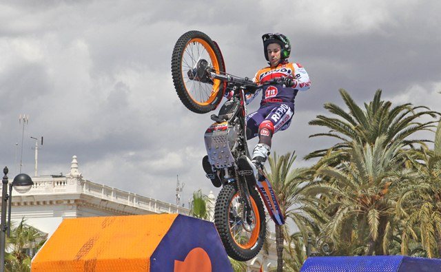 Repsol riders at the Cartagena refinery expansion presentation