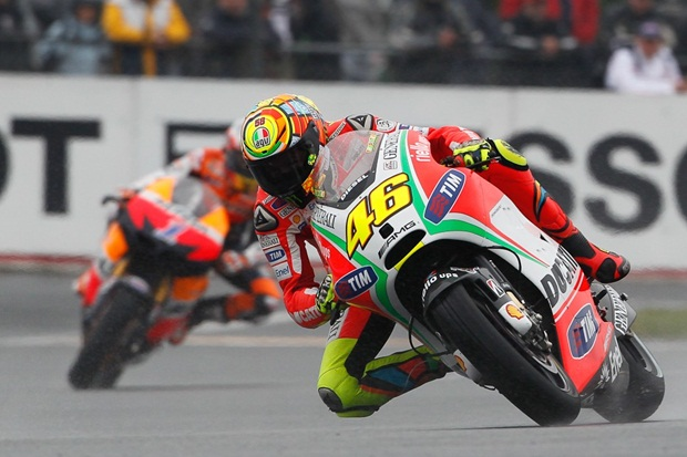 MotoGP 2012 Le Mans frist podium for rossi