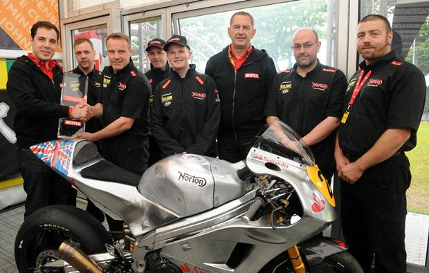 Motul Team award for Technical Excellence 2012 goes to Norton