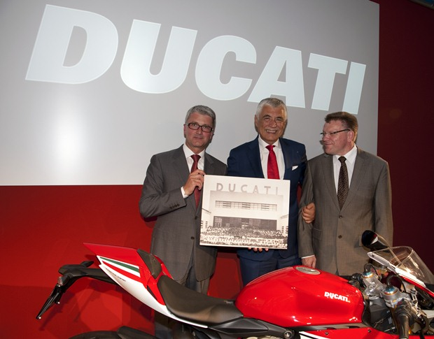 Audi CEO's first meeting at Ducati