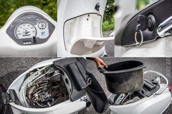 Vespa 125 lx accessories and key features
