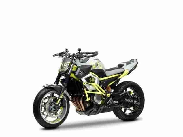 yamaha cage six stunt motorcycle xj6 - 04