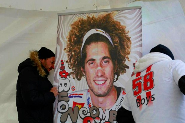 Marco Simoncelli memorial and exhibition