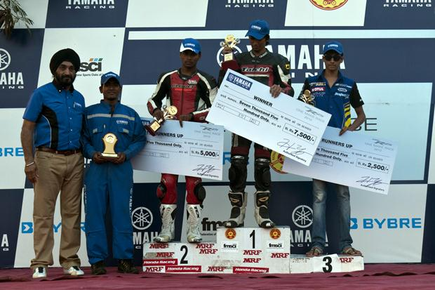 Yamaha India R15 Championship 2012 results