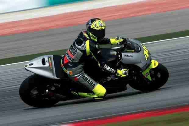 Valentino Rossi Yamaha dominate at Sepang test