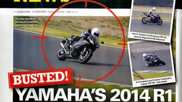 2014 Yamaha R1 caught testing in disguise