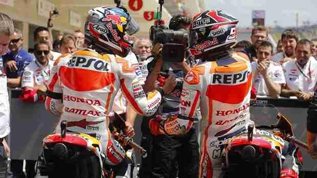 marc marquez motogp austin cota with dani pedrosa