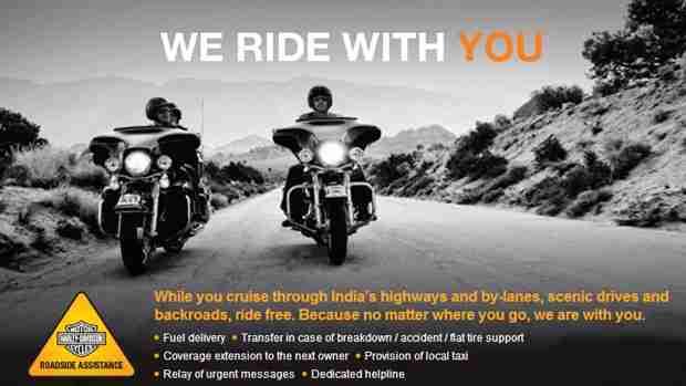 Harley-Davidson announces Roadside Assistance Program in India
