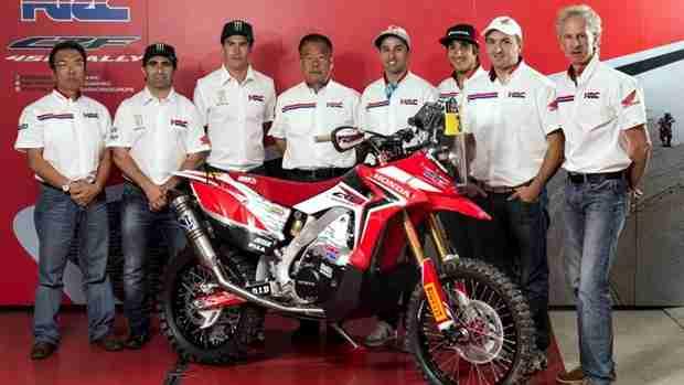 Honda Dakar 2014 team