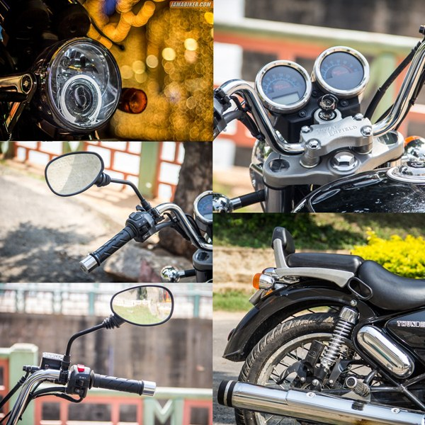 thunderbird 500 review Accessories and Key features