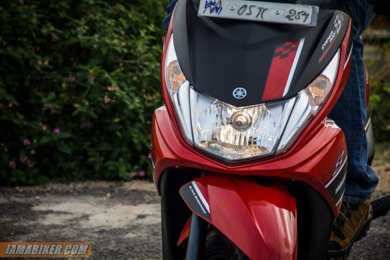 yamaha ray z headlight on