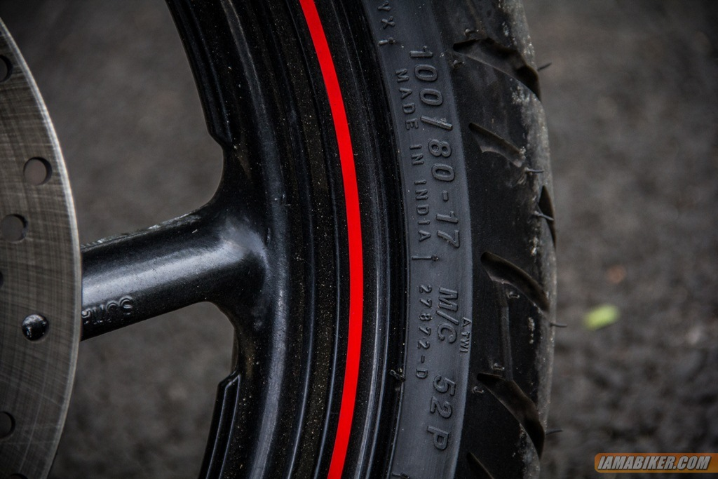 2013 Yamaha FZ-S front tyre dimensions