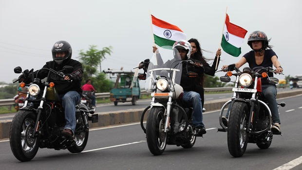 harley india independence day ride