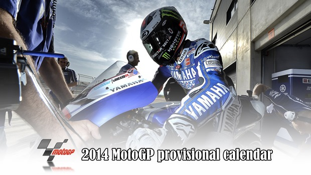 2014 MotoGP provisional calendar
