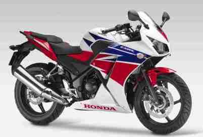 new honda cbr300r tri colour front