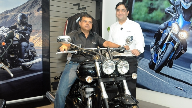 Triumph Motorcycles Bangalore showroom launch