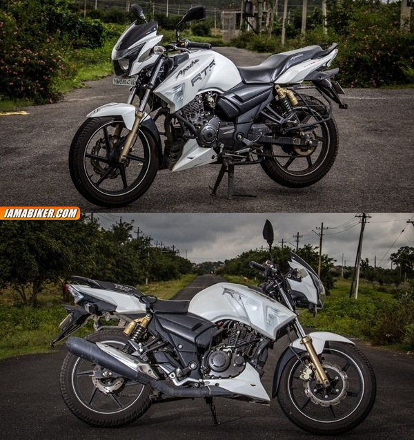 tvs apache rtr 180 review looks and build quality
