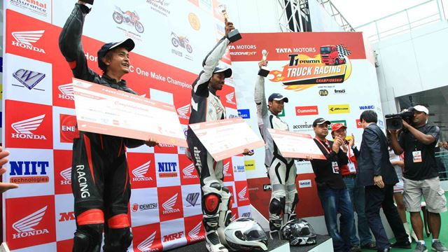 Winners of Honda One Make Race- Round 1- CBR 250 R category
