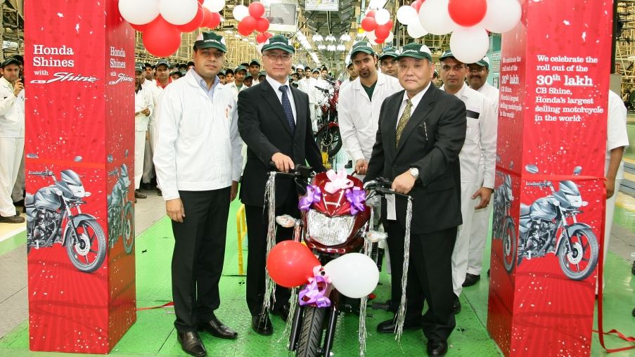 Honda CB Shine moves to number one spot