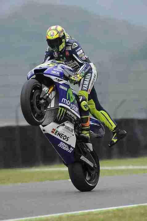 Valentino Rossi wheelie