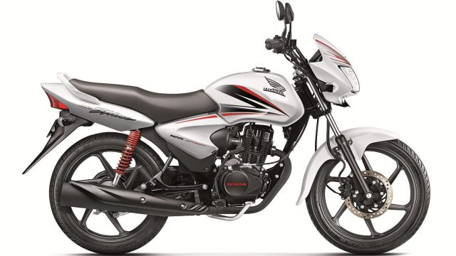 New Honda CB SHINE colour - pearl amazing white