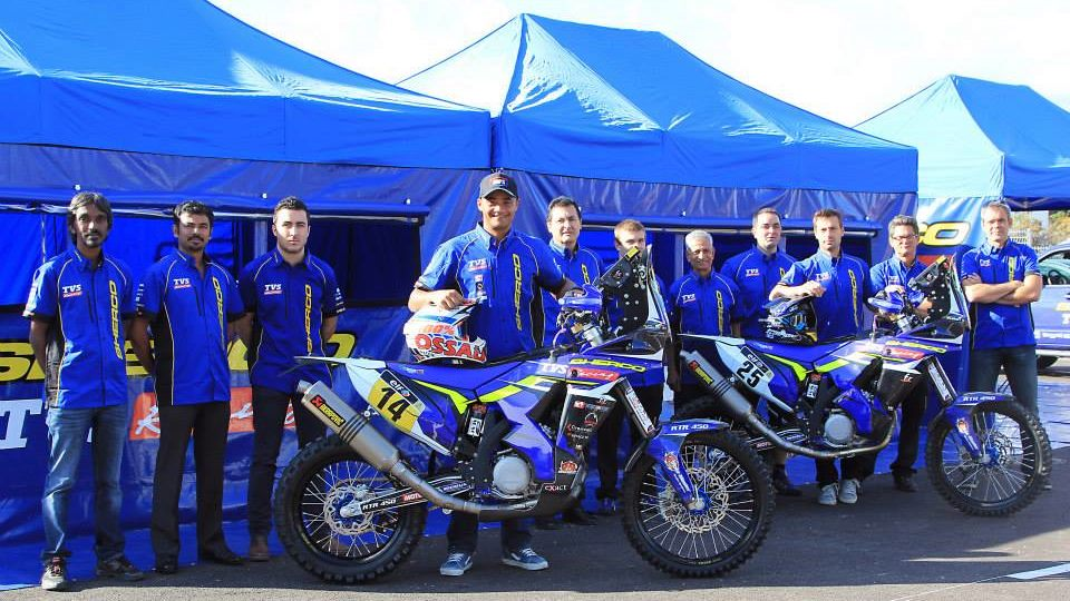 TVS partners with Sherco Motorcycles for Dakar 2015