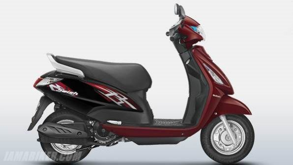 new suzuki swish 125 colour - Candy Dark Cherry Red
