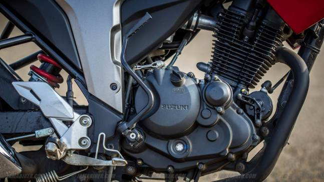 suzuki gixxer 155 engine and kicker