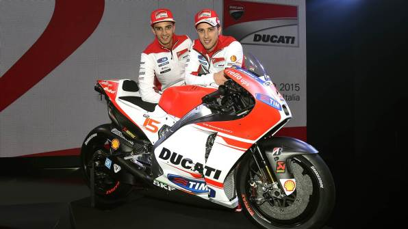 Ducati factory riders with GP15