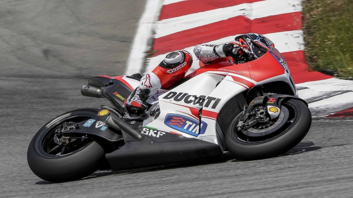 Andrea Dovizioso on the Ducati GP15