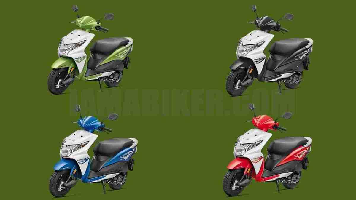 Honda Dio all colour options