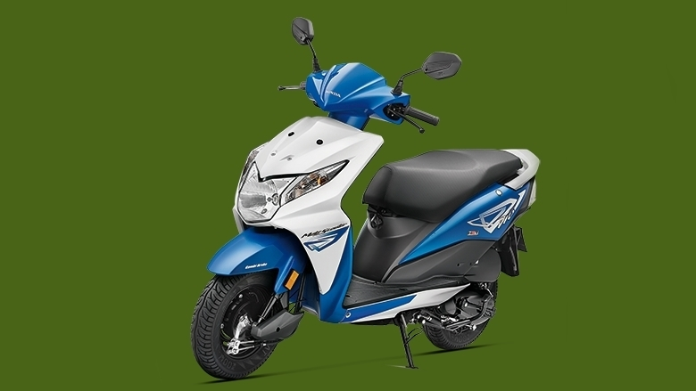 Honda Dio candy jazzy blue colour option